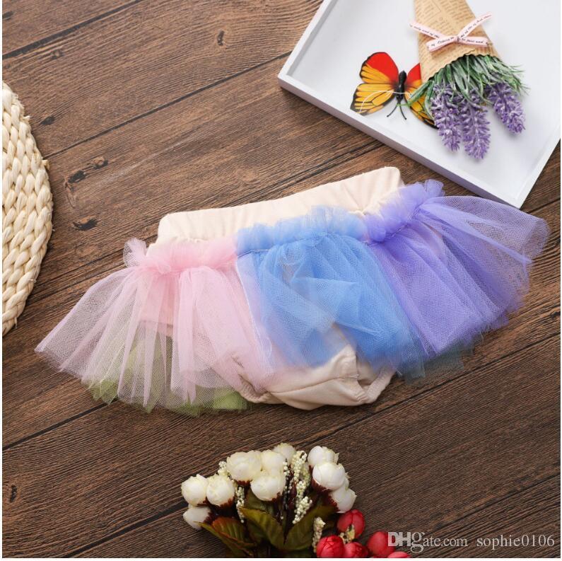 Baby Mädchen Bunte Mini Tutu Rock Baby Sommer Gaze Minirock Kleider Kinder Kinder Kleidung ZHT 020