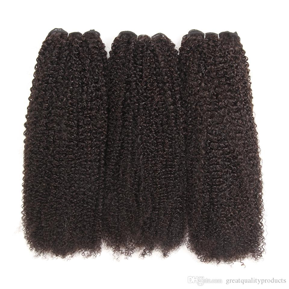 Grade 10a India Kinky Curly Hair Weave Bundles Natural Color 130 density Human Hair Bundles 8-30 Inch Remy Human Hair Extension