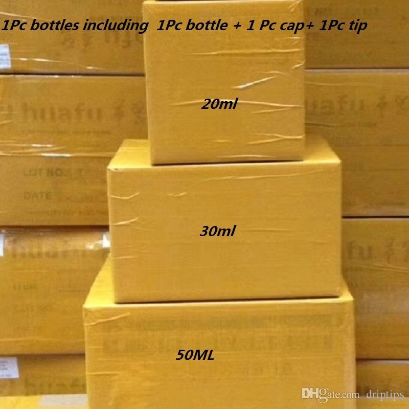 Bottiglia di olio 1000Pcs PET 30 ml 50ml 60ml 100ml 120ml Bottiglie di plastica contagocce Vape olio nero o trasparente con protezioni anti-manomissione