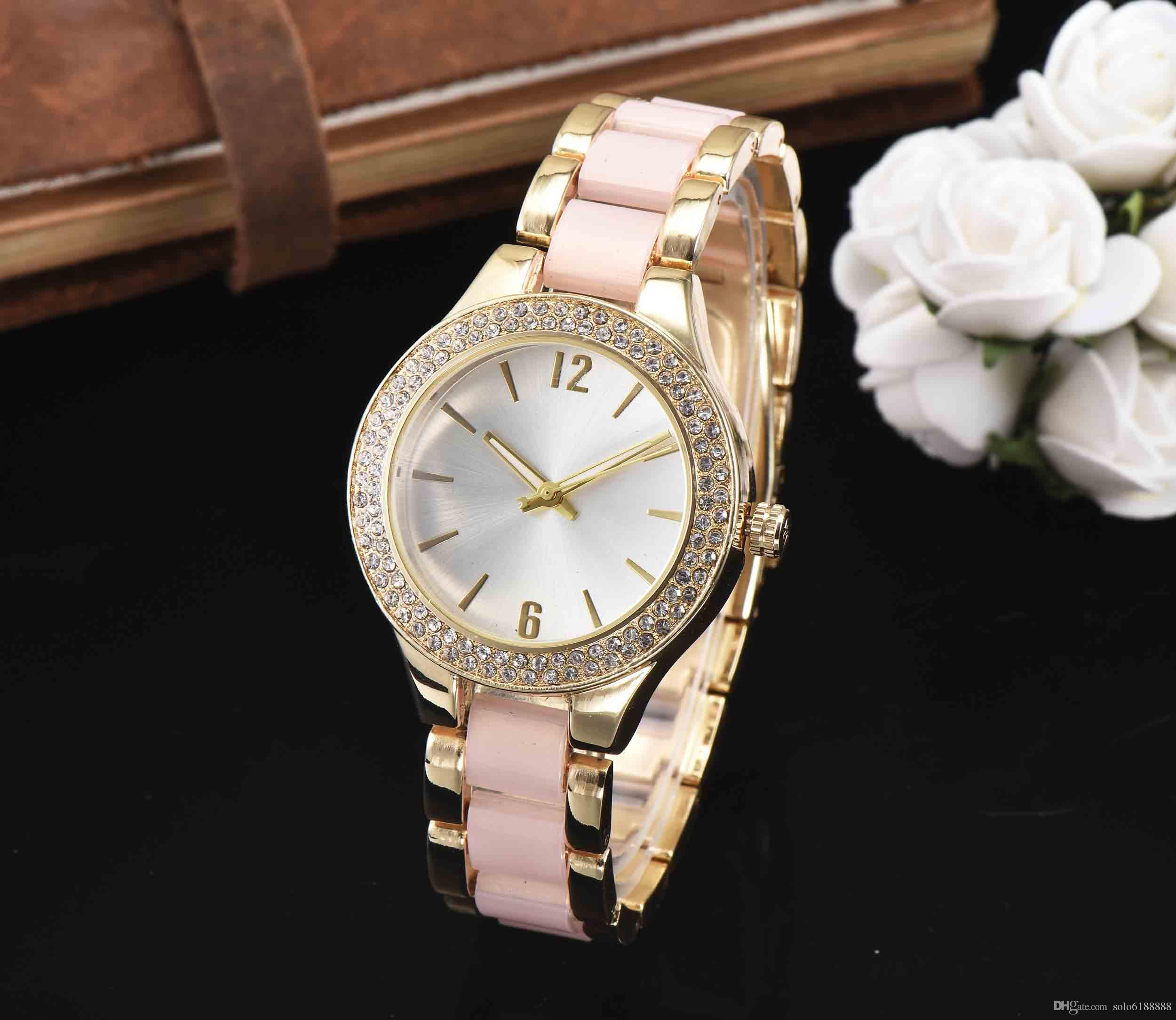 Ultra thin rose gold woman diamond flower watches 2018 brand luxury nurse ladies dresses female Folding buckle wristwatch gifts for girls8