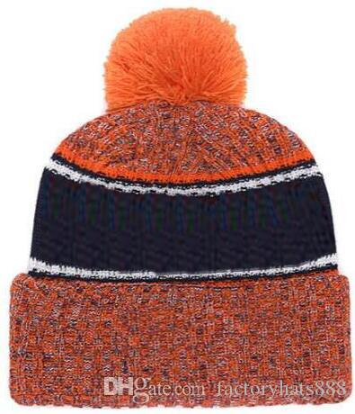 2019 Autumn Winter hat Sports Hats Custom Knitted Cap with Team Logo Sideline Cold Weather Knit hat Soft Warm CHICAGO Beanie Skull Cap