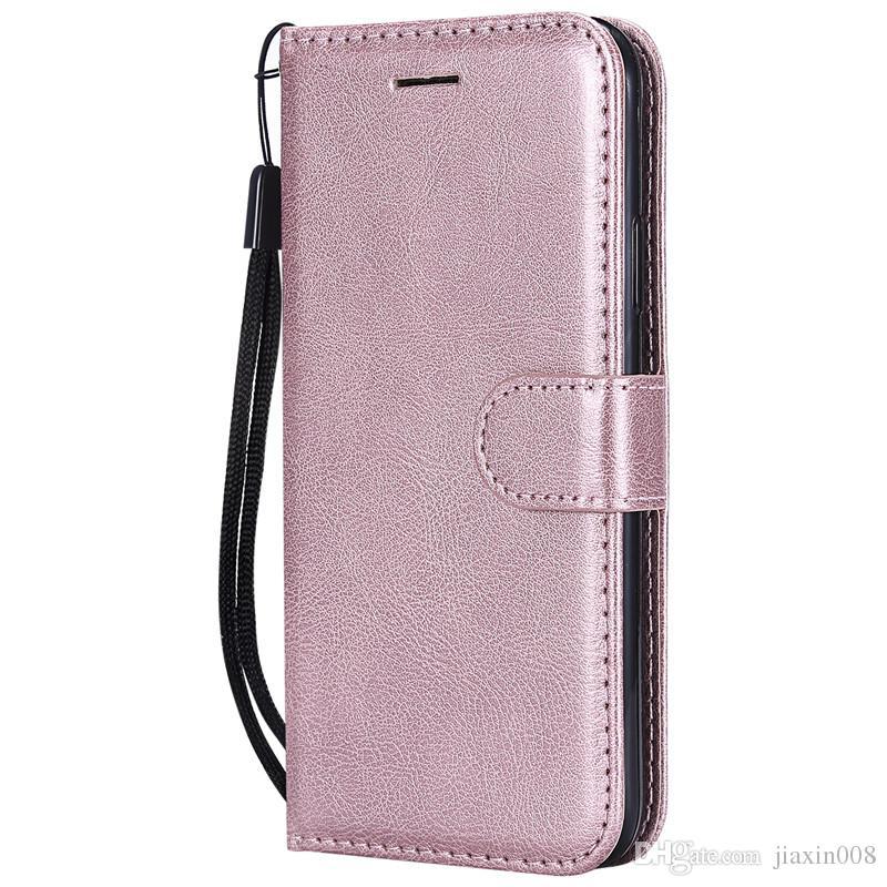 Cüzdan Kılıf iphone X Flip arka Kapak Saf Renk PU Deri Cep Telefonu Çanta iPhone XS Için Coque Fundas 5.8 inç