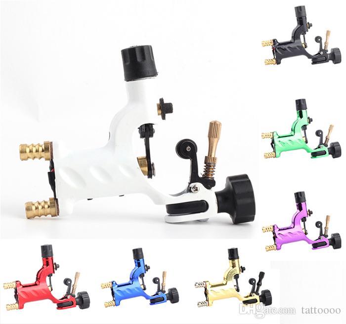 잠자리 로타리 문신 기관총 7 색 완성 된 문신 스타터 키트 공급을 위해 19mm 그립과 함께 사용 가능
