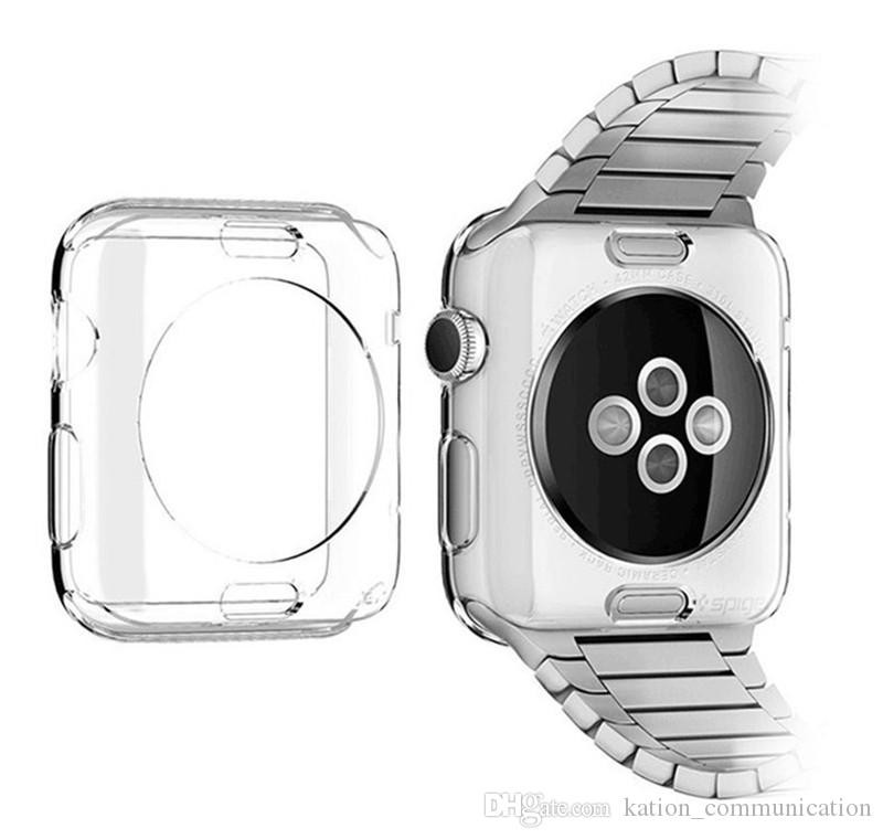 For apple watch 42mm Series 1 2 3 Transparent Protective Case TPU Protector Ultra Thin Cover for i Watch 38mm Smart Watch Case