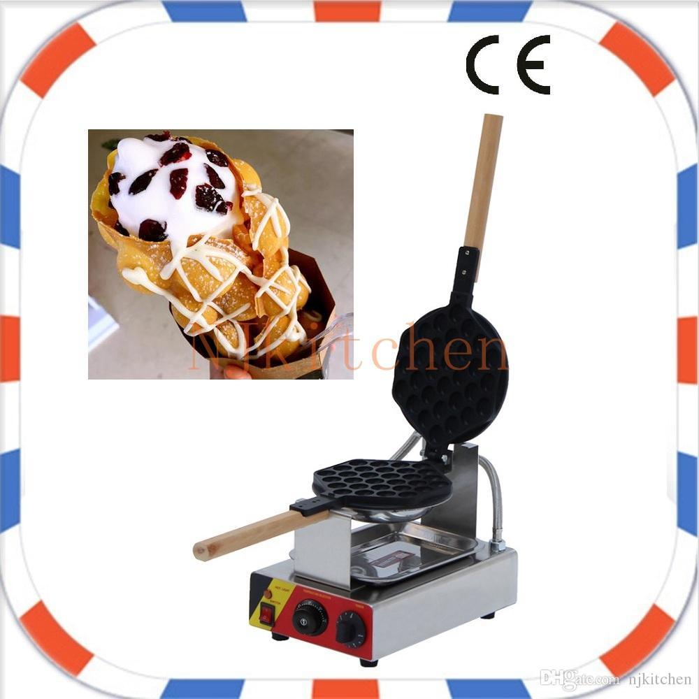 Livraison Gratuite 110v 220v électrique bulle gaufre forme commerciale Hong Kong style oeuf gaufre crème glacée cônes fabricant machine fer moule pan cuisson