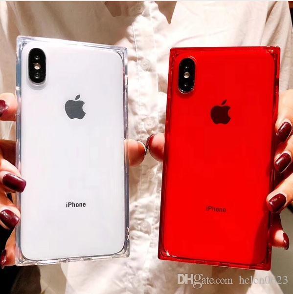 2018 الأزياء حالة الهاتف ل فون x 6 6 ثانية 7 8 xs ماكس xr زائد 7 زائد 8 زائد حالات سيليكون تبو لينة فاخرة شفافة غطاء الهاتف المحمول