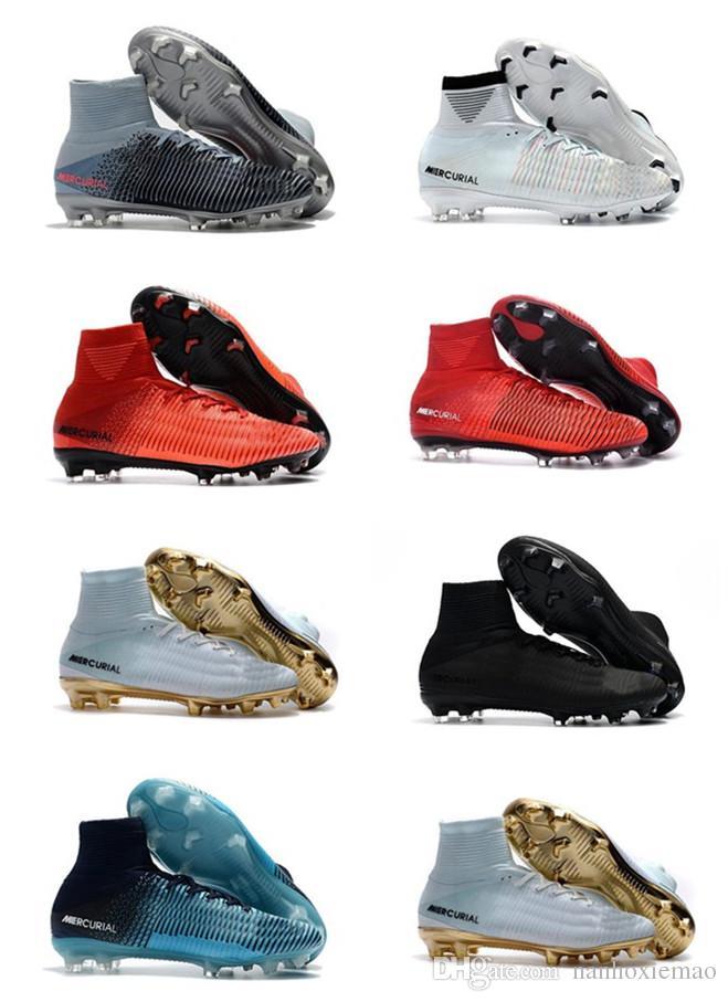 حار بيع الرجال و كيد أحذية كرة القدم زئبقي cr7 superfly v fg كرة القدم الأحذية magista أوبرا 2 النساء الشباب لكرة القدم المرابط كريستيانو رونالدو