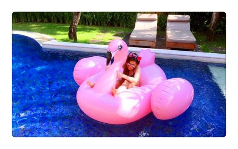 Şişme Flamingo Havuz Şamandıra Oyuncaklar 190 cm Çocuklar Yüzme Halka Daire Parti Dekorasyon Plaj Su Parti oyuncak