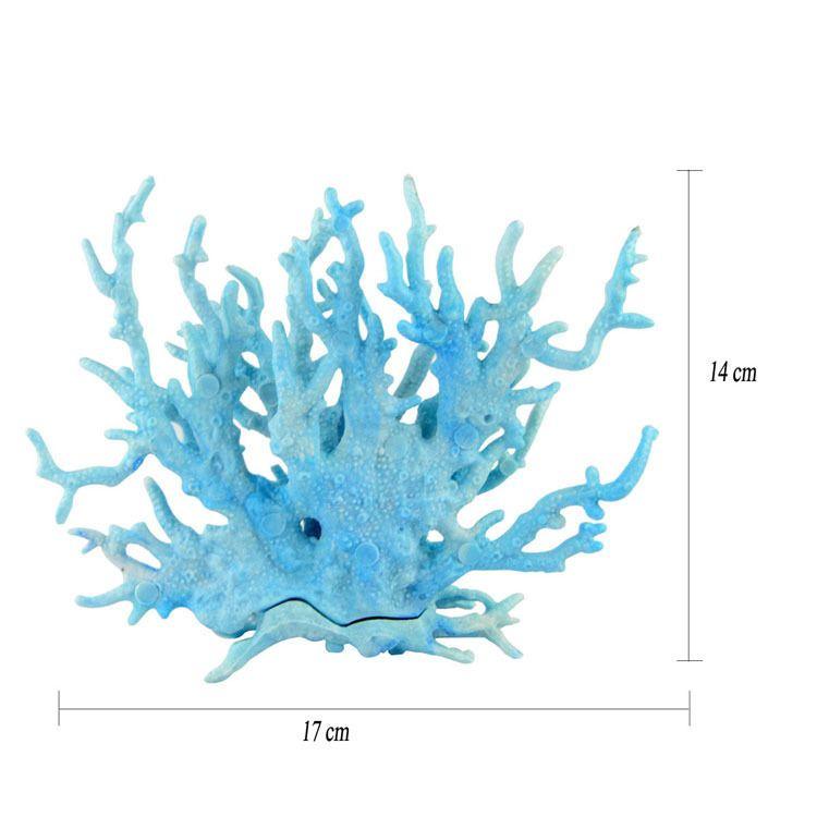 النباتات المائية المرجانية الاصطناعية الزائفة المرجانية خزان مياه البحر ديكور المنزل حوض السمك البرمجيات المناظر الطبيعية الديكور المرجانية الحرفية