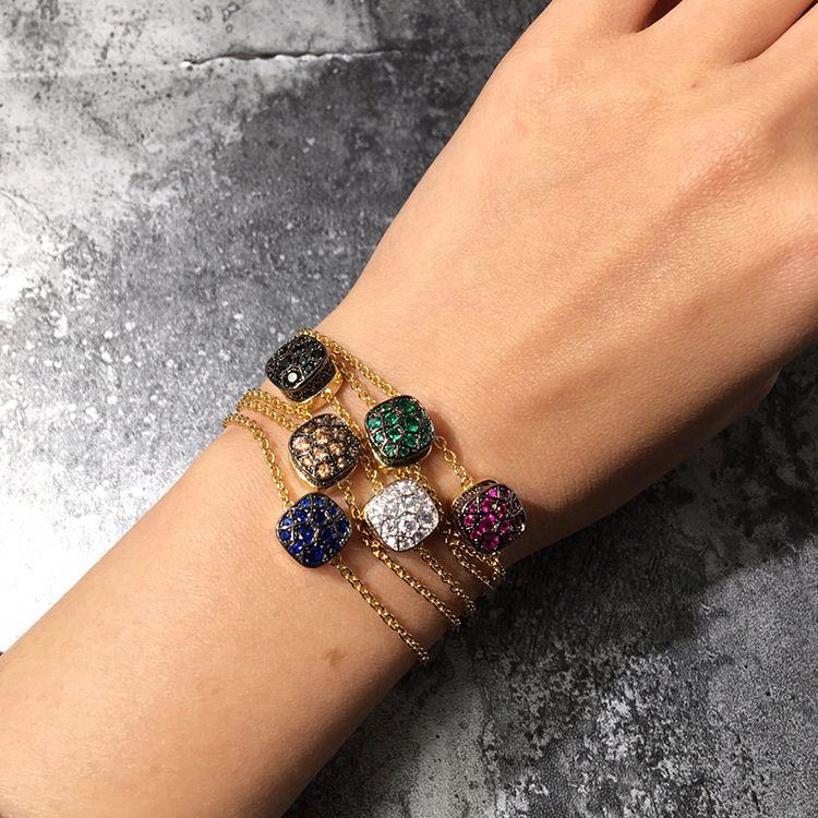 TYME New Qualitäts-bunter Steinfrauen-Armband-Edelstahl für Partei mit buntem Stein
