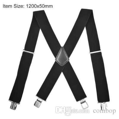 Male Suspenders men 4 Clips 5*120cm Men's casual braces Elastic Pants tirantes Leather Belt Strap Clothing Accessories