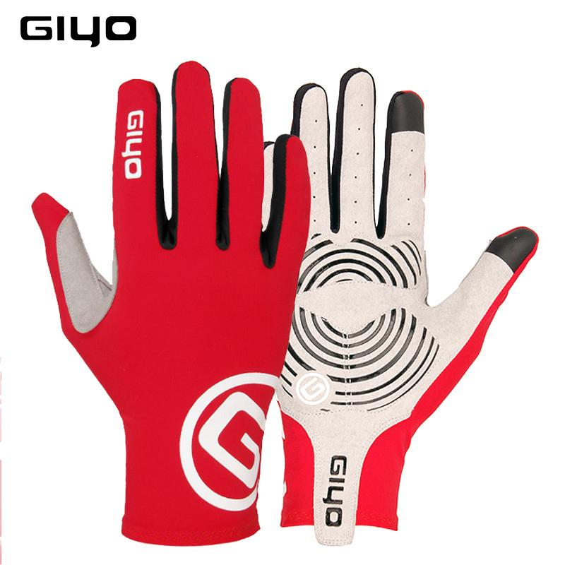 GIYO winter cycling gloves long finger gel touch screen S M L XL XXL road bike bicycle gloves men women riding full fingers MTB C18110801