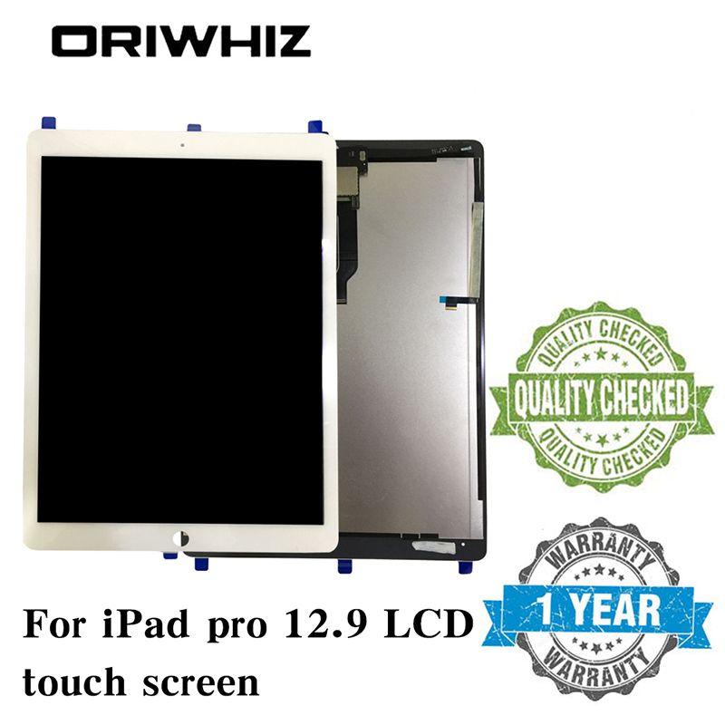 Nueva llegada Negro Blanco para iPad Pro 12.9 Tableta Pantalla Pantalla táctil Panel táctil Ensamblaje del digitalizador sin botón y pegamento