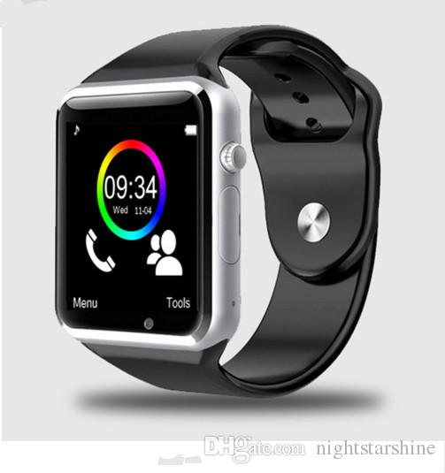 2018 New 9 colour A1 WristWatch Bluetooth Smart Watch Sport Pedometer with SIM Camera Smartwatch For Android Smartphone