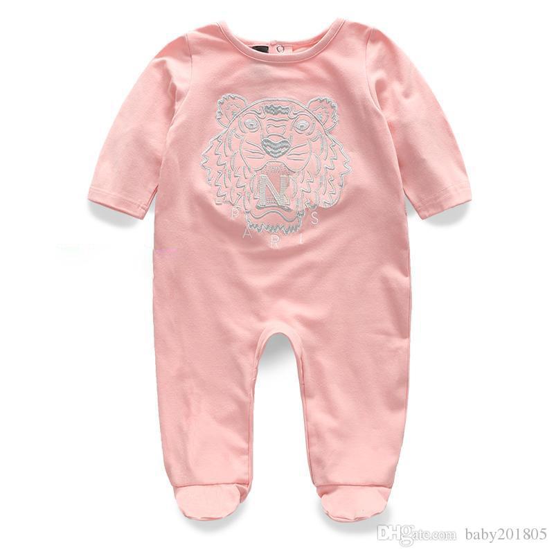 2018 neue langärmelige baumwollspielanzug baby body kleidung kinderbekleidung cartoon baby tier mode mädchen overall strampler