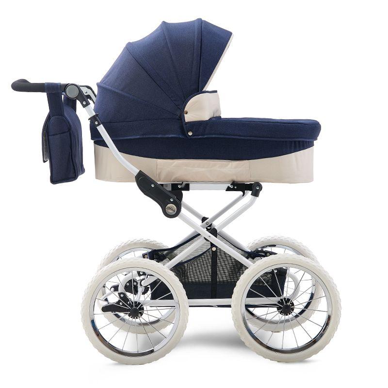 Envío libre Coolbaby real Estilo paisaje de la alta Cochecito para niños, 4 ruedas plegable carro de bebé, de dos vías coche de los niños / bebé Pam