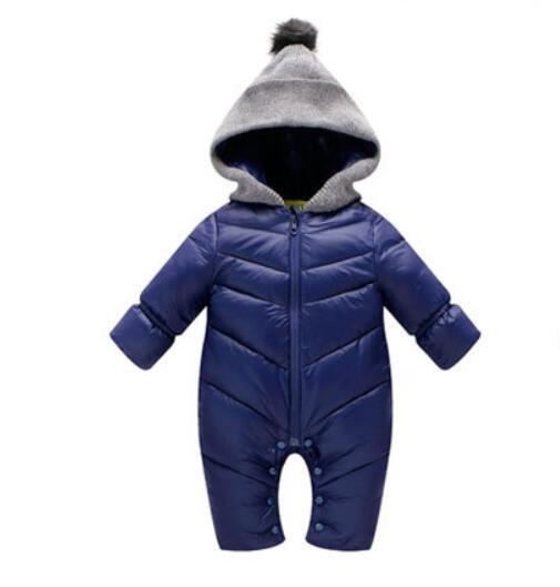Newborn Baby Winter Clothes Baby Warm Snowsuit Duck Down Rompers Windproof New Born Boys Girls Thick Fur Hooded Sportsets