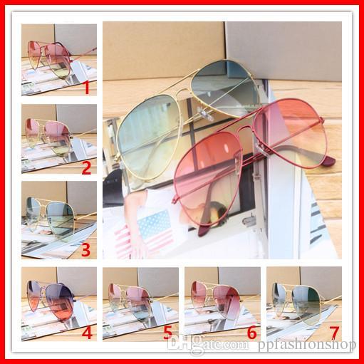 En Kaliteli Tasarımcı Güneş Gözlüğü Erkek Kadın Için Yeni Moda Güneş Gözlüğü Gözlük Marka Güneş Gözlükleri Degrade UV400 Lensler