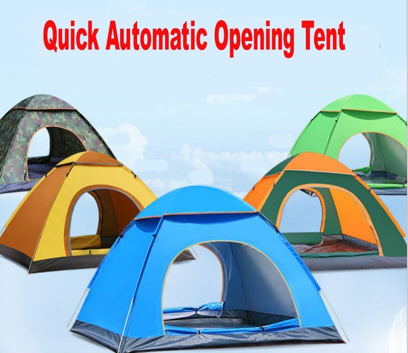 야외 3-4persons 자동 속도 오픈 방풍 방수 해변 캠핑 텐트 큰 공간 해변 텐트 팝업