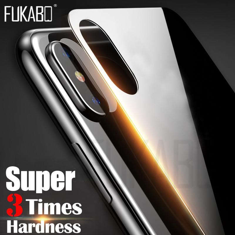 9H Protector completo en la parte posterior para iPhone X Tapa trasera trasera Vidrio templado para iPhone X 10 Protector de pantalla Película de vidrio endurecido