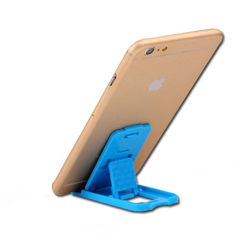 Bestseller Tragbarer kompakter Handyständer Mehrfarben-Handyhalter aus Kunststoff Für die meisten Handys, Smartphones, PDAs und MP3-Player 8 * 3.7 * 0.5