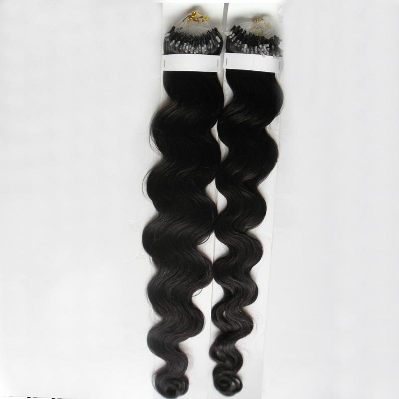 7a Micro Loop Human Hair Extensions 200g 2 pack Micro حلقة حلقة وصلات ريمي الجسم موجة 100 ٪ ملحقات الشعر الحقيقي الإنسان