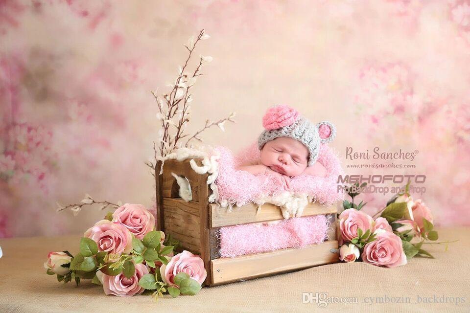 Vinylgewebe Baby Neugeborenen Studio Prop Foto Schießen Hintergrund Rosa Kinder Kinder Fantasie Floral Fotografie Kulissen