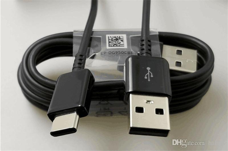 USB Tipo C (USB-C) para cabo USB 1M / 3FT Carregador de alta qualidade para Samsung V8 S8 LG Nexus HTC Huawei P8 Telemóveis