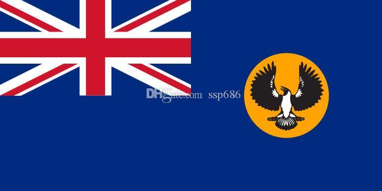 Australia Flaga Południowa Australia 3FT X 5FT Poliester Banner Latający 150 * 90 cm Niestandardowa flaga na zewnątrz