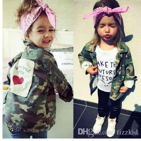 Yorkzaler новорожденных девочек мальчиков куртка кардиган мода весна осень камуфляж пальто армии детская ветровка верхняя одежда