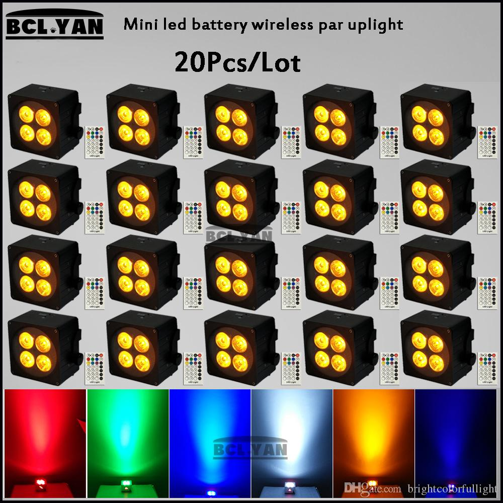 Factory price mini led par lights battery operated wireless dmx led disco bar uplighting with IRC RGBWAP 6 IN 1 20XLOT