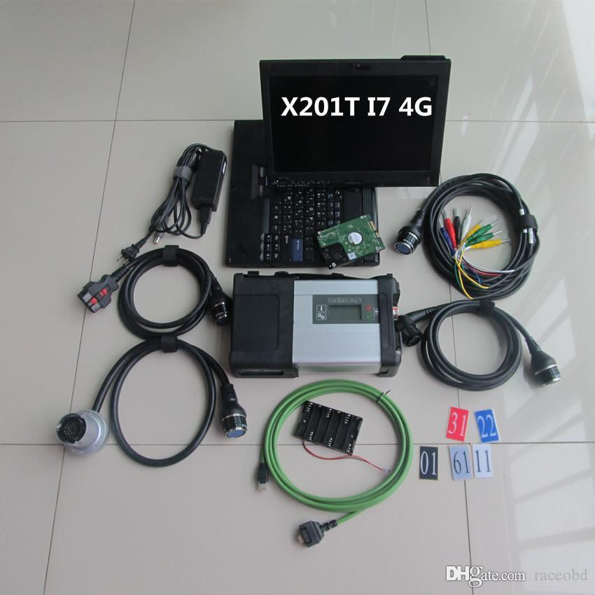 for mb sd connect compact 5 STAR C5 laptop x201t 4g i7 with hdd ready to use car and truck diagnostic