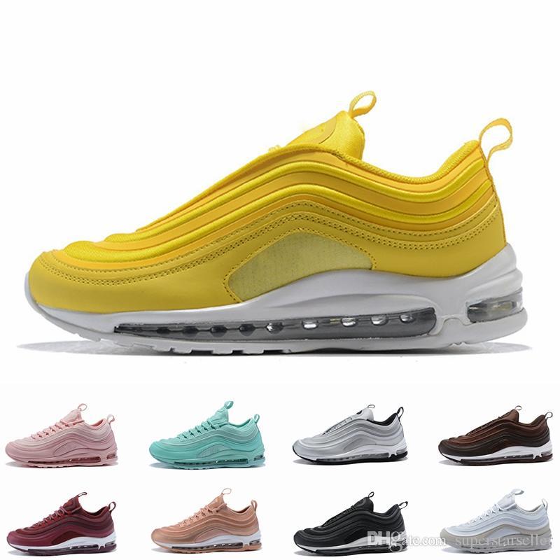 Compre Nike Air Max 97 Airmax 97 2018 New Air Mustard Yellow 97 Ultra 17 SE  Zapatillas Para Mujer 97s Triple Pink Yellow Zapatillas Para Mujer Men ...
