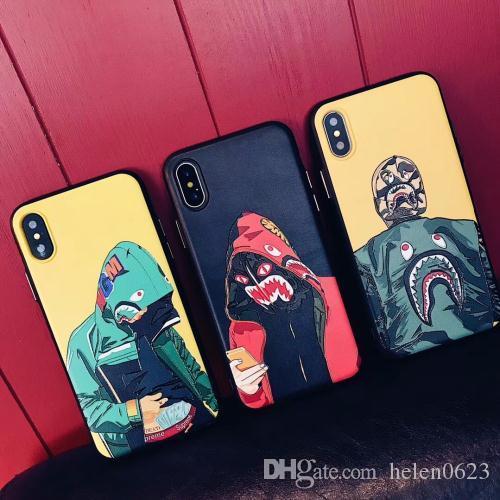 Hot Fashion Cool Men Shark Case per iPhone 11 12 Mini PRO X XS XR MAX 6 6S 7 8 PLUS SHARK Nowest Top Quality Matte Cell Phone Accessori
