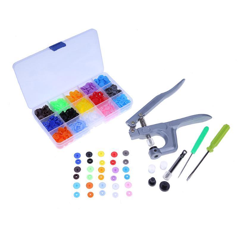 1 компл. металла пресс плоскогубцы инструменты, используемые для T3 T5 T8 кнопка крепления плоскогубцы + 150 компл. T5 пластика смолы пресс-шпильки ткань пеленки