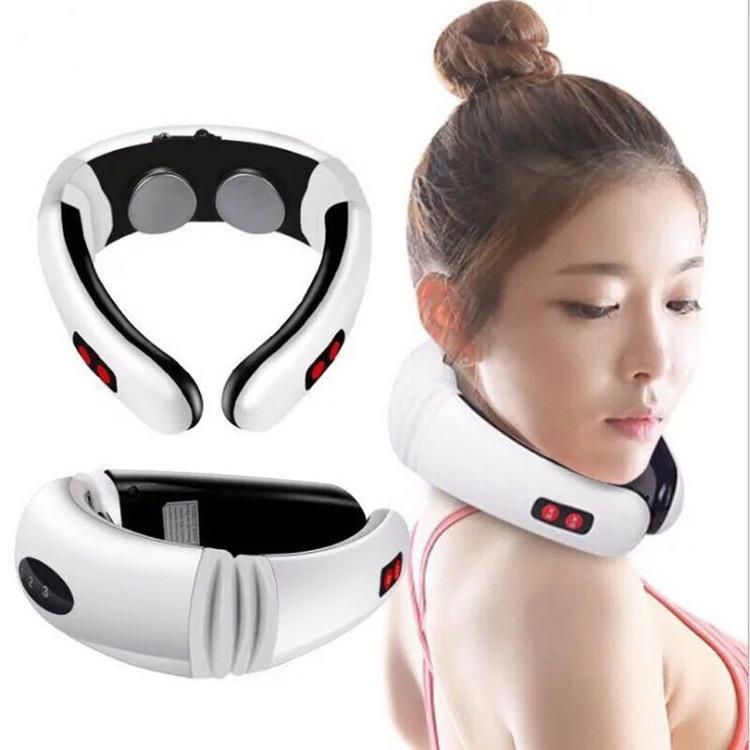 Intelligent pulse cervical massage device, household electric kneading traction massage apparatus