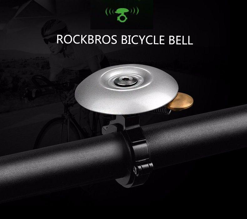 RockBros Bicycle Handlebar Ring Bell Upgrades Retro Mantis Type Bell Silver