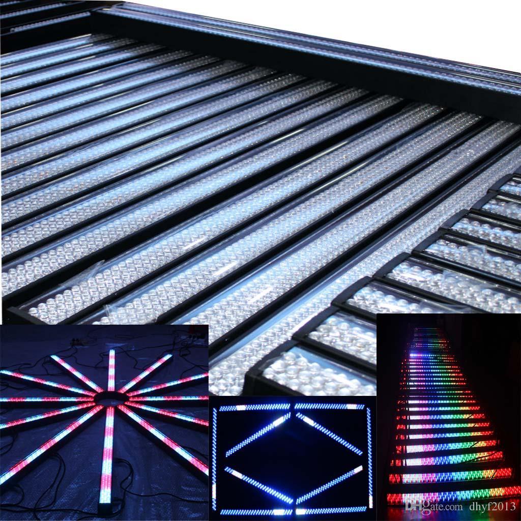 LED sahne etkisi ışık duvar yıkama 252 adet led ışık çubuğu DMX kontrol aydınlatma olay performans parti renkli ışıklar sahne aydınlatma