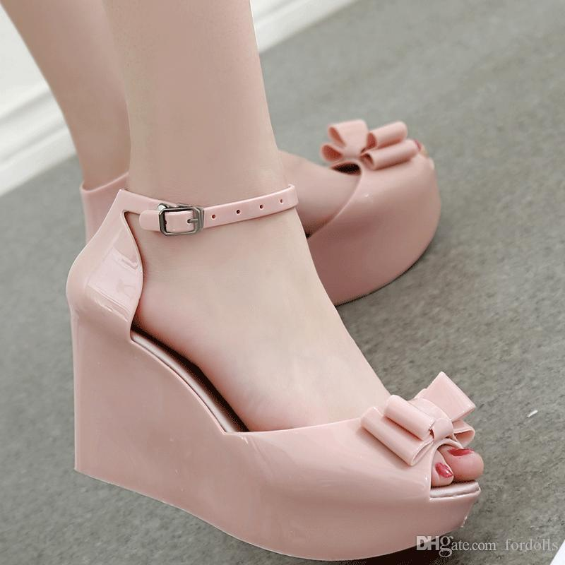 Women Shoes Jelly Glue Fish Mouth Wedge