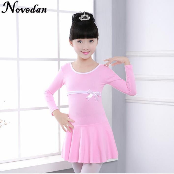 طفل أطفال الوردي القطن الباليه يوتار اللباس طفل الفتيات الباليه ممارسة الرقص اللباس للأطفال