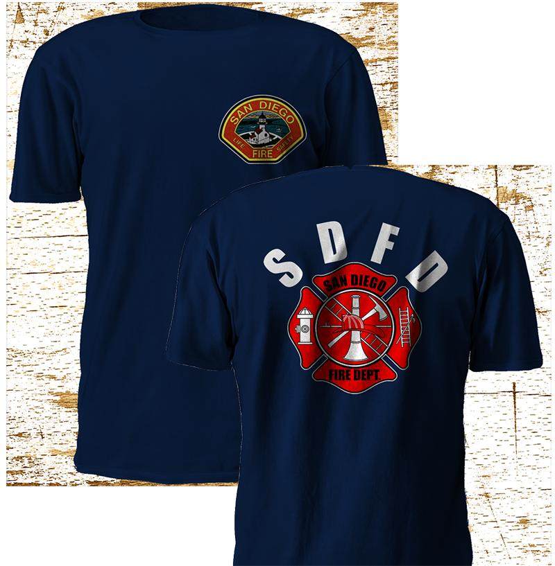 Nouveau San Diego Lifeguard Fire Rescue Fire Department arme à feu Navy T Shirt S-4XL