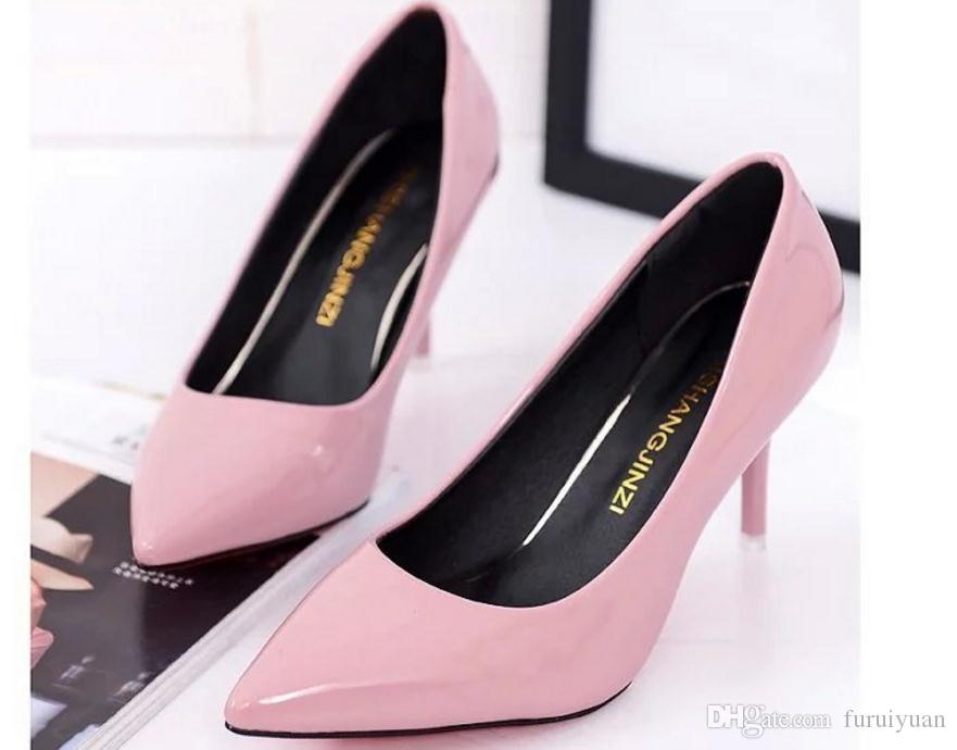 Бесплатно отправить горячий 2018 новый стиль весна указал конец тонкой пятки на высоком каблуке женская обувь@01