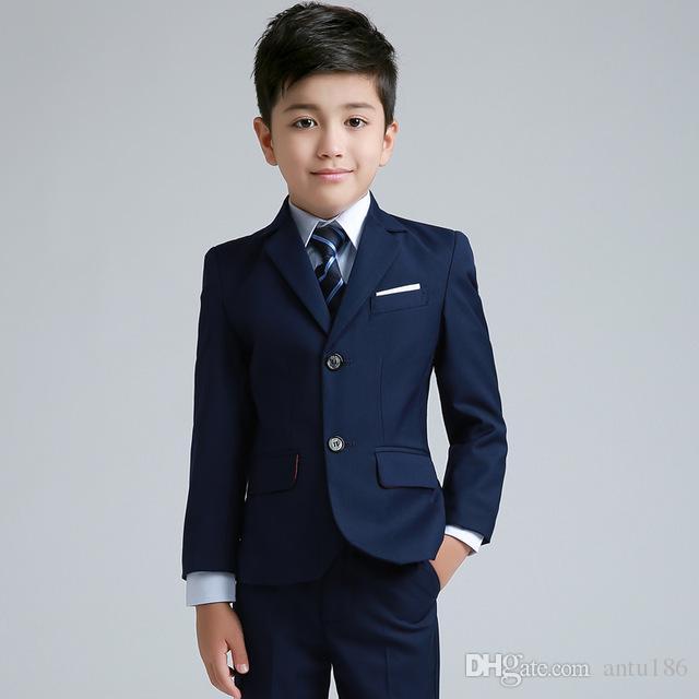 Custom classic boy handsome suit boy fashion suit two-piece suit (jacket + pants) boy prom party dress