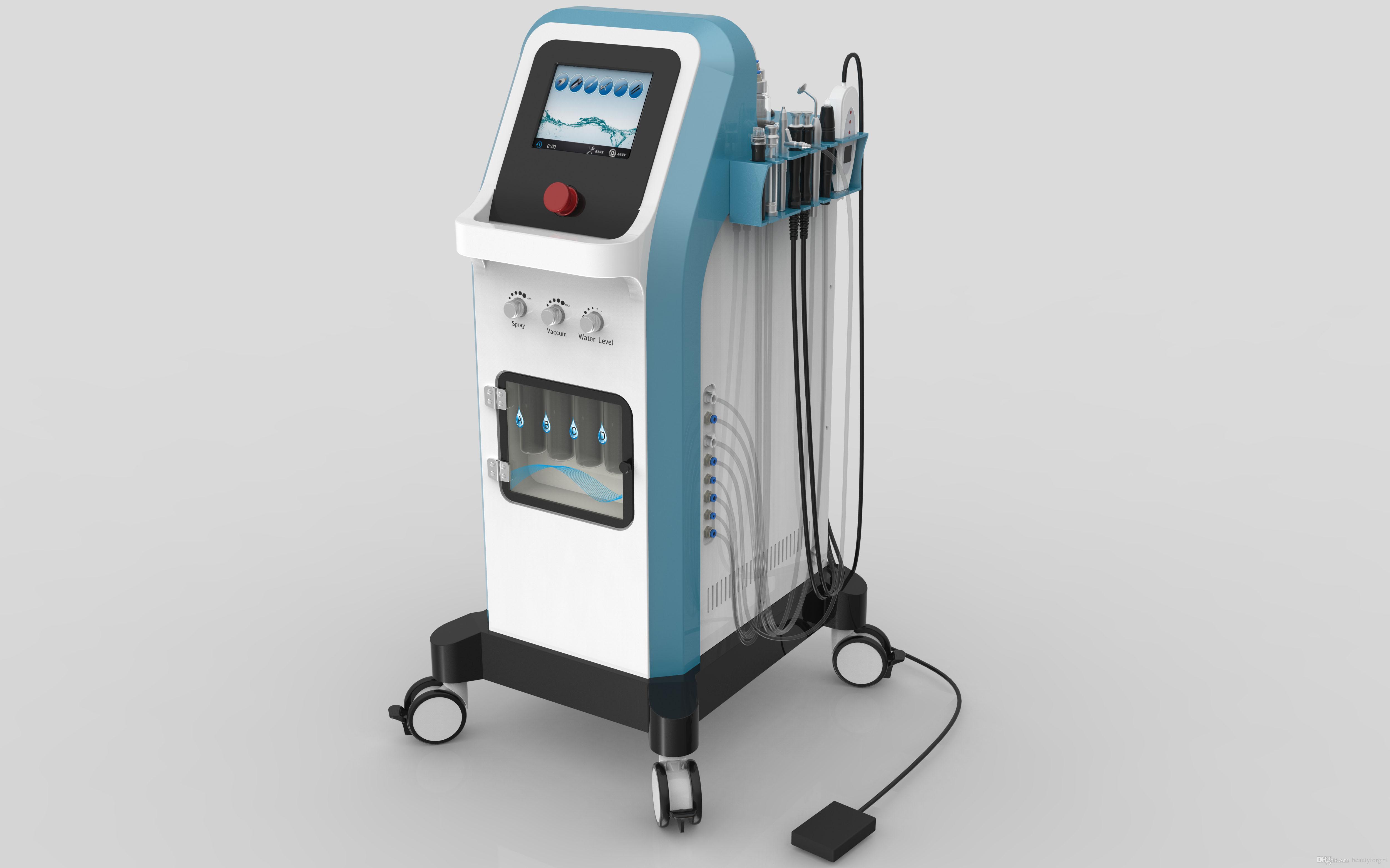المهنية Hydra المياه جلدي مع RF الأكسجين Spary سبا الوجه آلة / Hydro Microdermabrasion المعدات ل SpaSalon مع CE