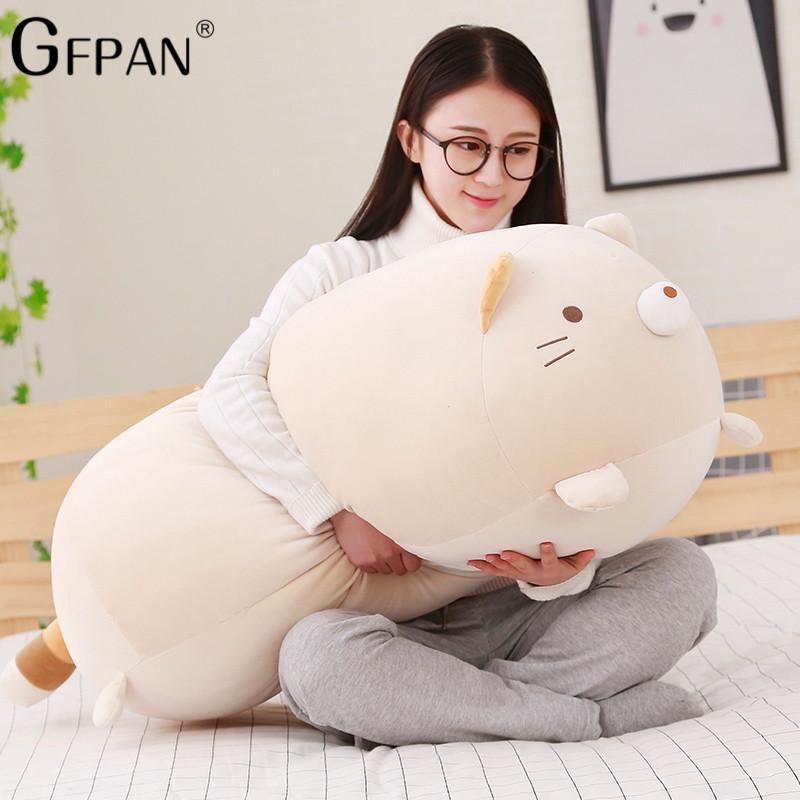 60cm 거대한 크기 고품질 일본어 일본어 애니메이션 Sumikko 구라시 슈퍼 부드러운 봉제 장난감 San-X 코너 바이오 만화 귀여운 아기 베개