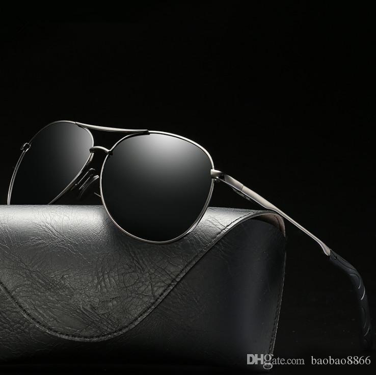 Alta qualidade polarizada moda óculos de sol para homens e mulheres marca designer vintage esporte óculos de sol com caixa e caixa