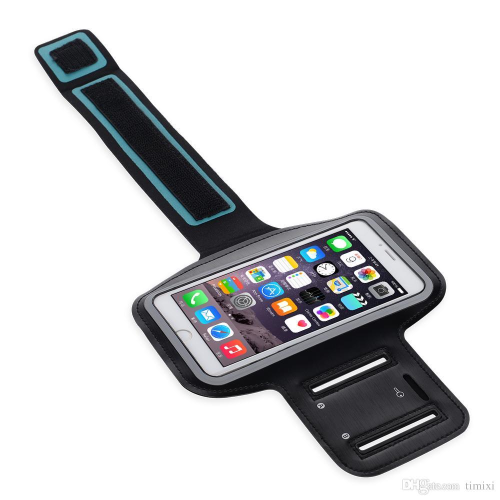 La fábrica suministra - Deportes Correr sostenedor de la caja del brazal ajustable Gimnasio correa del teléfono bolso del teléfono móvil del caso para el iPhone X 8 Galaxy Samsung S7