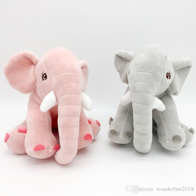 Cute 20cm pink grey elephant softable plush toy children gifts kids toy