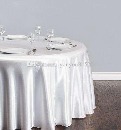Белый цвет 80GSM тонкий атласный прямоугольник крышка стола 3 размер для выбора 10 шт. Много Бесплатная доставка для свадьбы использования