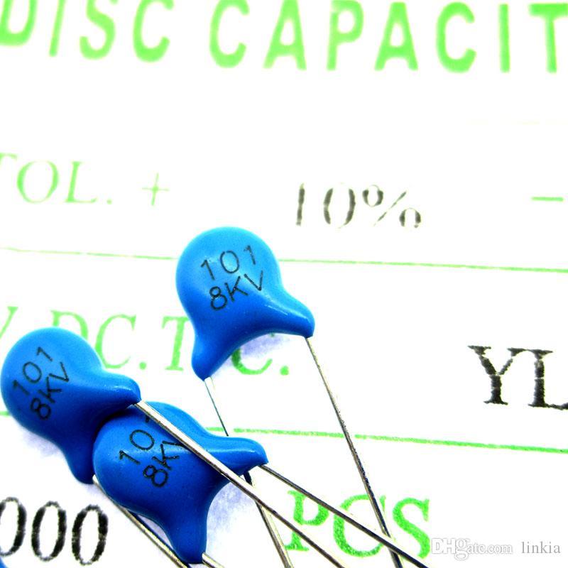Capacitores cerámicos de alto voltaje 8KV101 8000V 100pf Pitch 5